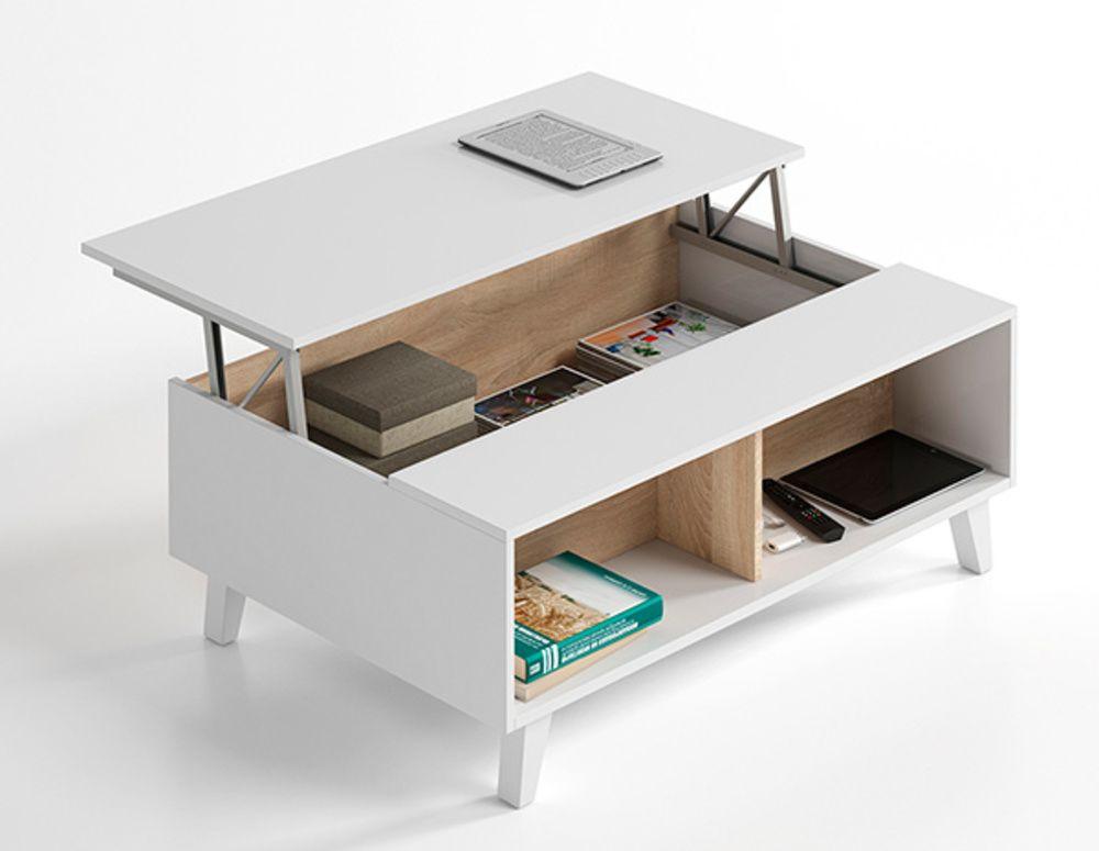 Table Basse Relevable Domino Plus Avec Images Table Basse Relevable Table Basse Table Basse Rangement