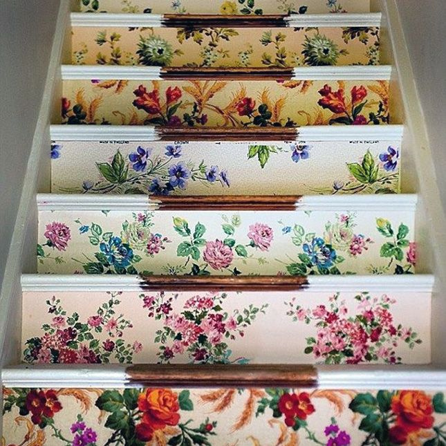25 Brilliant Ways to Decorate Your Stairs via Brit + Co