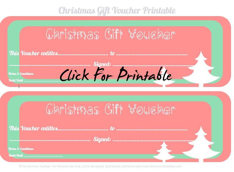 Free Printable Christmas Gift Vouchers Free Printables Homemade - Homemade christmas gift certificates templates