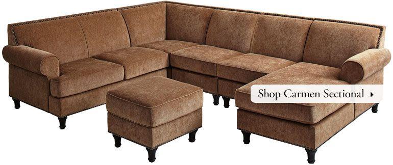 Shop Carmen Sectional Pier 1 | Sectional sofa, Sectional ...