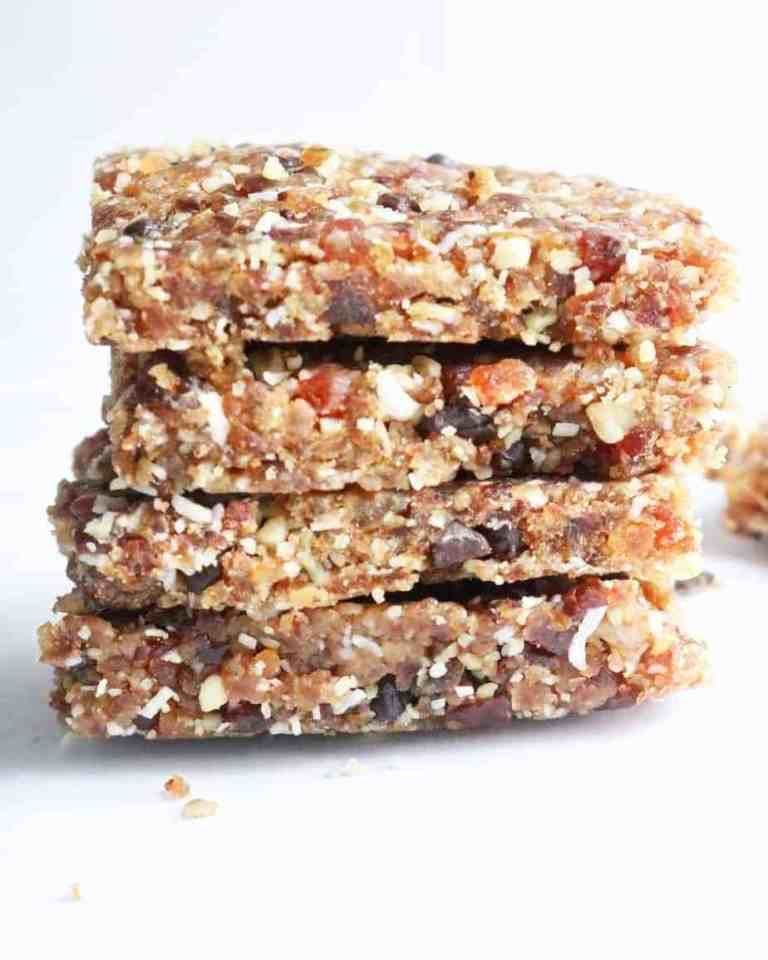 Easy No Bake Energy Bars – with Dates