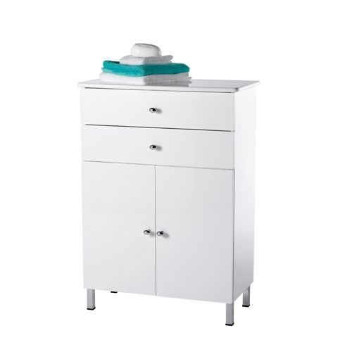 White Freestanding Bathroom Cabinet Storage Units Free