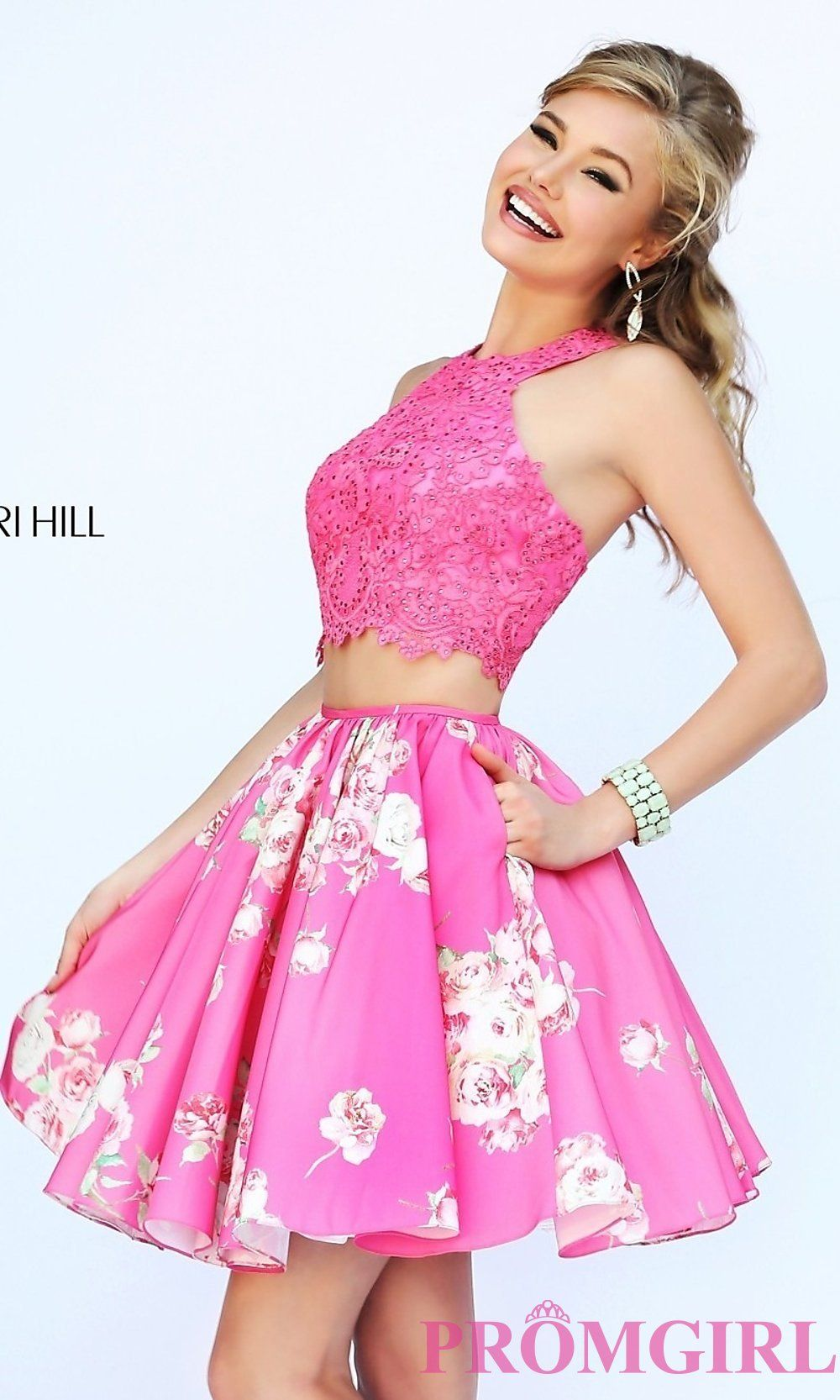 Short Two Piece Print Dress by Sherri Hill | Dresses | Pinterest ...