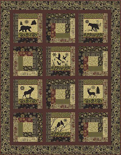 Log Cabin Wild Lap Quilt Kit! … | Pinteres… : rustic quilt patterns - Adamdwight.com