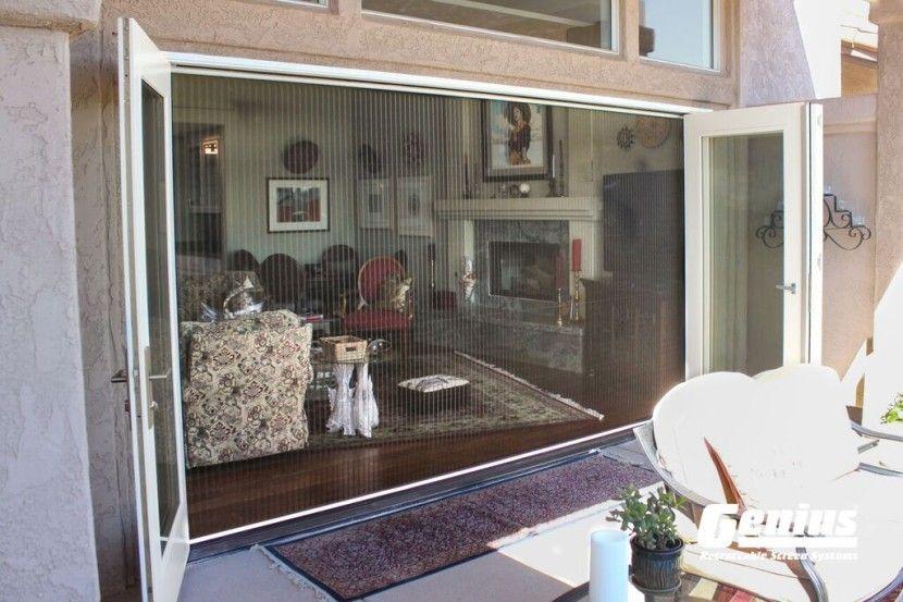 Zigzag Retractable Screen Doors For Large Openings
