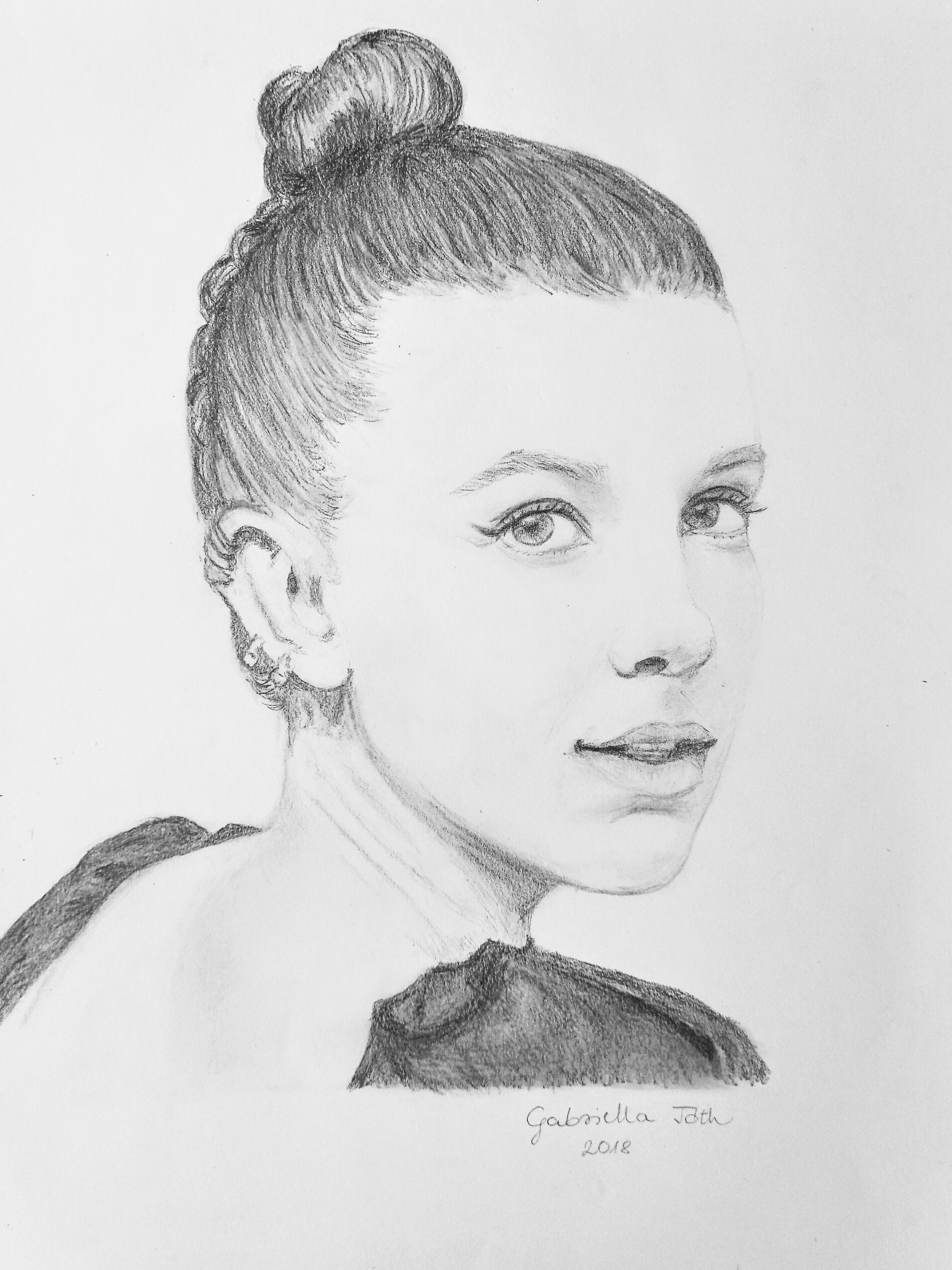 Pencil Drawing Of Millie Bobby Brown By Gabriella Toth Stranger Things Art Eleven Stranger Things Drawing Stranger Things