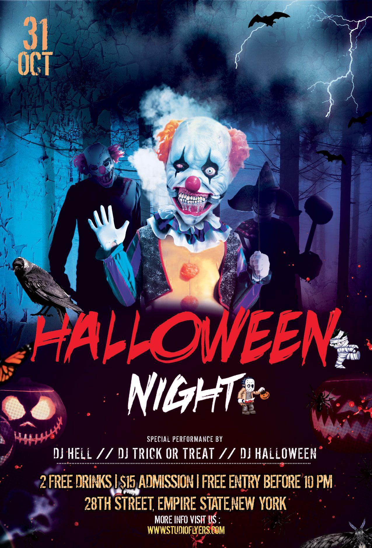 Halloween Spooky Download Free PSD Flyer Template