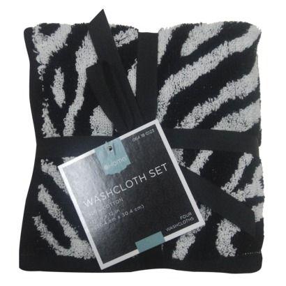 Target Home™ Zebra Print Washpack - Black/Whtie