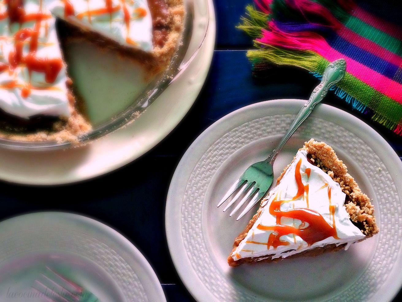 Pay relleno de crema pastelera de Piloncillo - lacocinadeleslie.com