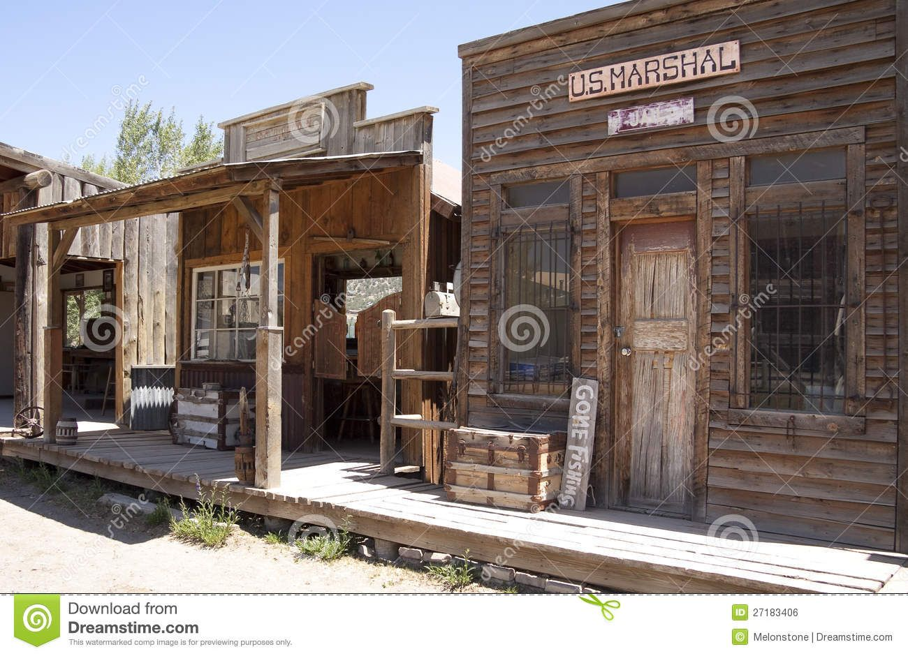 Building Facades Street In Typical American Wild West
