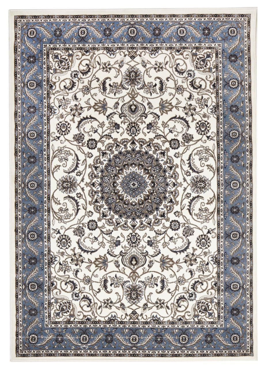 Le 9 White Blue Traditional Rug Rugs Express Online Australia
