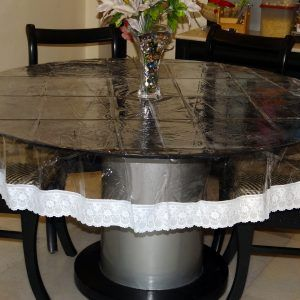 Dining Room Table Pads Custom Prepossessing Clear Plastic Kitchen Table Cover  Httpnilgostar Inspiration