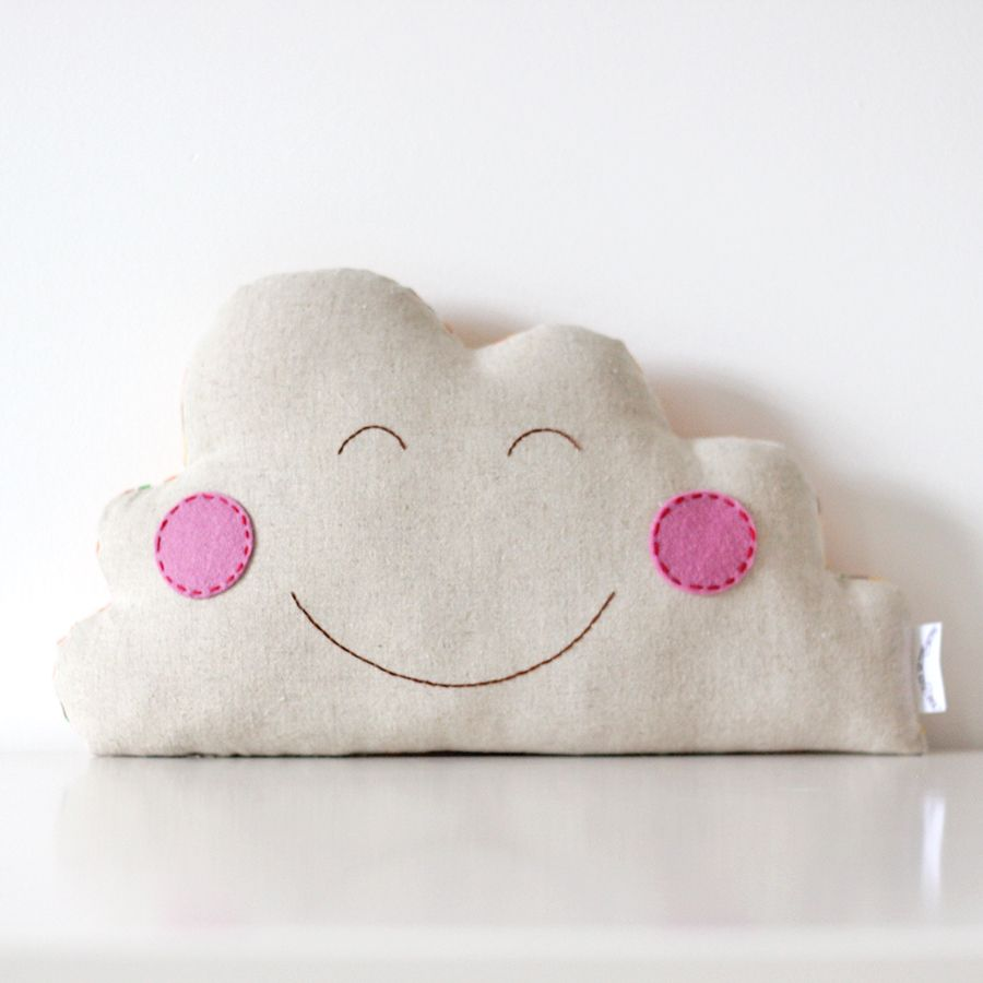 Happy Cloud Cushion — The Fox in the Attic