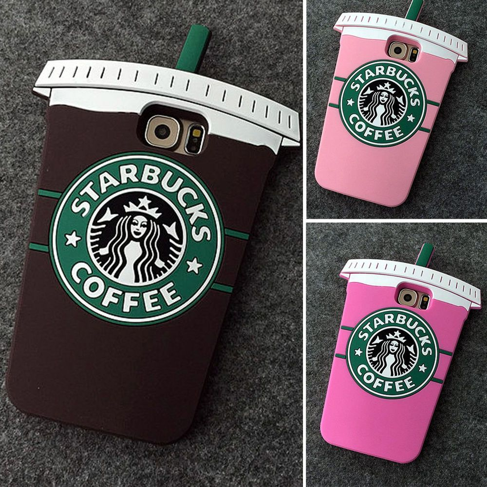 3d Cartoon Starbucks Coffee Silicone Skin Cover Case For Samsung Galaxy S6 Edge In Cell Phones