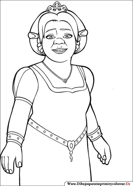 Dibujos de Shrek para Imprimir y Colorear | Paint by number and ...
