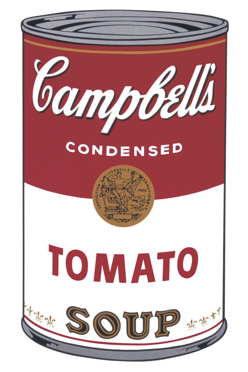 ANDY WARHOL CAMPBELLS SOUP DECAL DECOR STICKER WALL ART GRAPHIC VARIOUS COLOUR