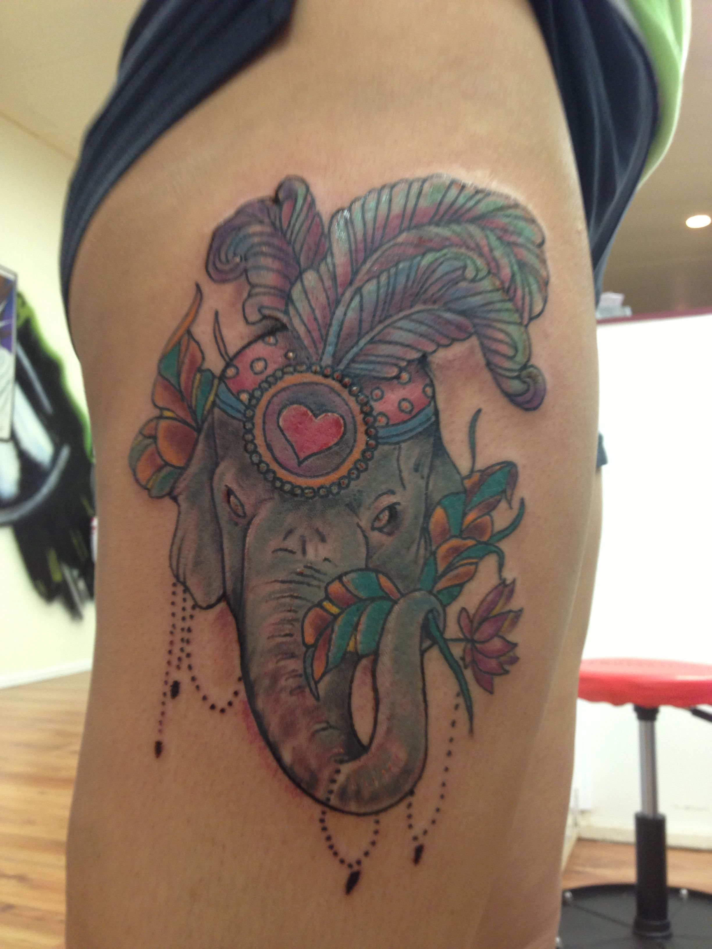 My Elephant Tattoo Elephants Are The Most Loyal And Powerful