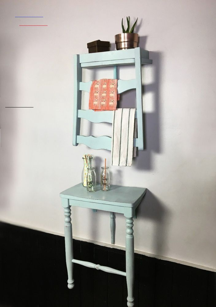 DIY Chair Turned Shelf - #photowallideas - Have on old chair you don't want anymore? Before tossing it out you might want to consider repurposing it into a shelf! #diy #shelving #diyhomedecor...
