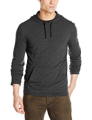 John Varvatos Men's Long Sleeve Knit Hoody
