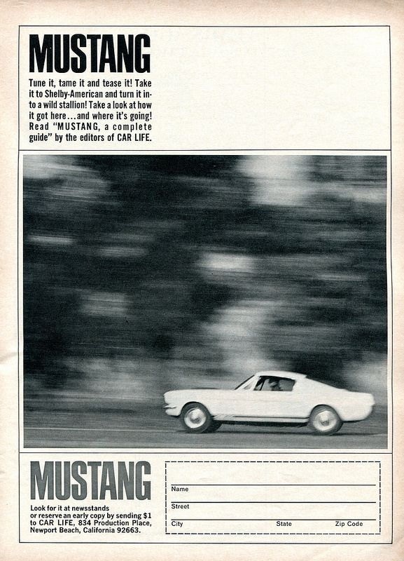 1965 Ford Mustang Guide Advertisement Road & Track July 1965   Flickr - Photo Sharing!