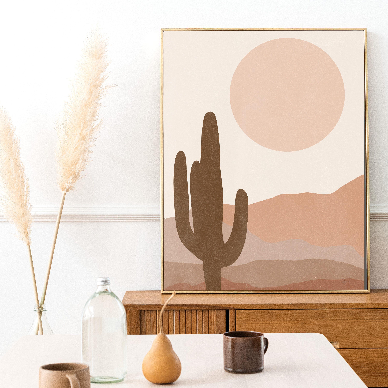 Desert Landscape Wall Art Print Abstract Boho Nature Wall Etsy Landscape Wall Art Bohemian Wall Art Landscape Walls