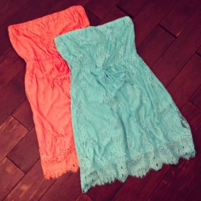 Lace tube dresses from @Aéropostale
