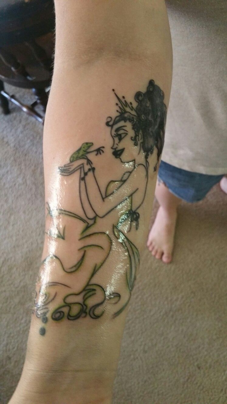 Princess Tiana tattoo from princess and the frog | Tattoos, Africa ...