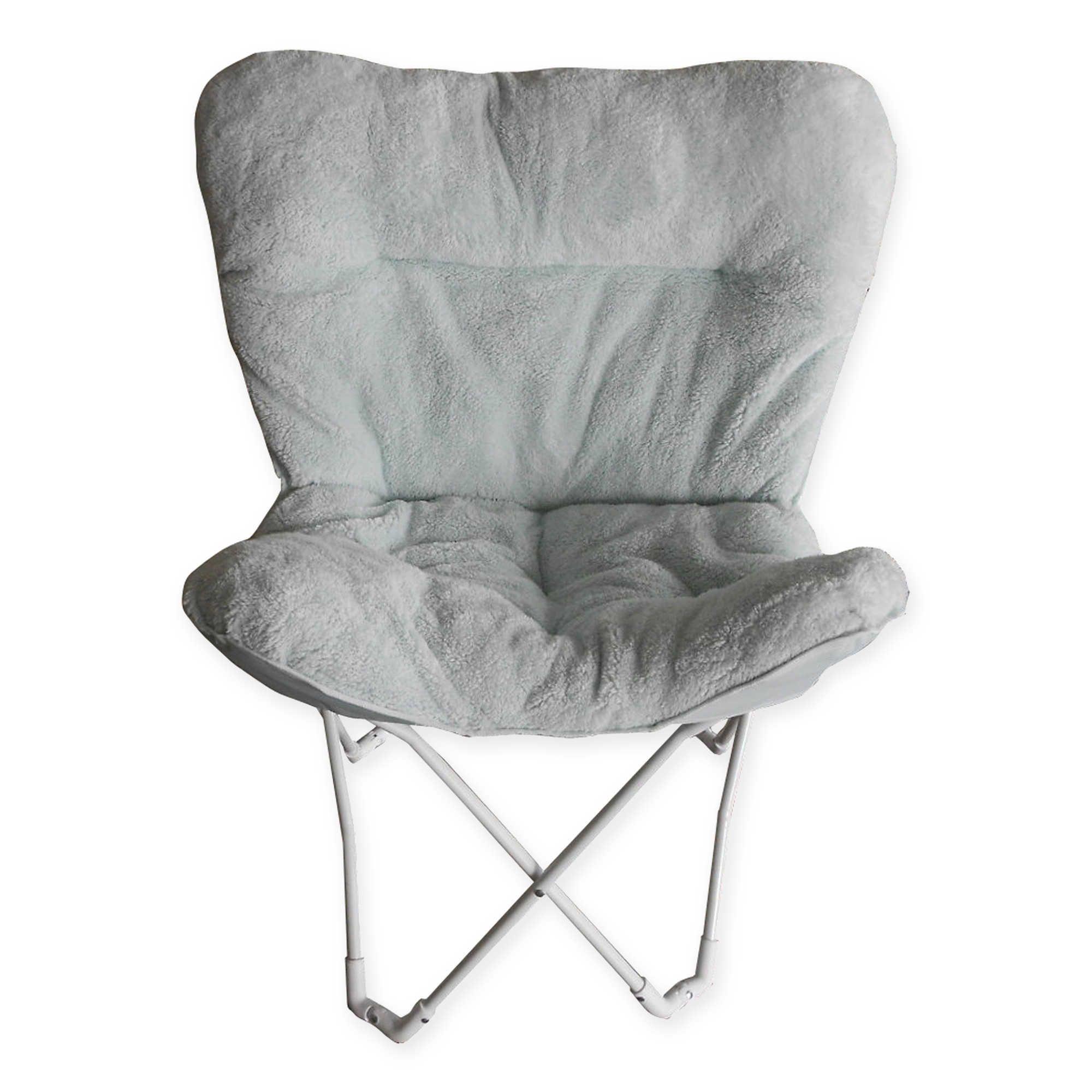 Folding Plush Butterfly Chair