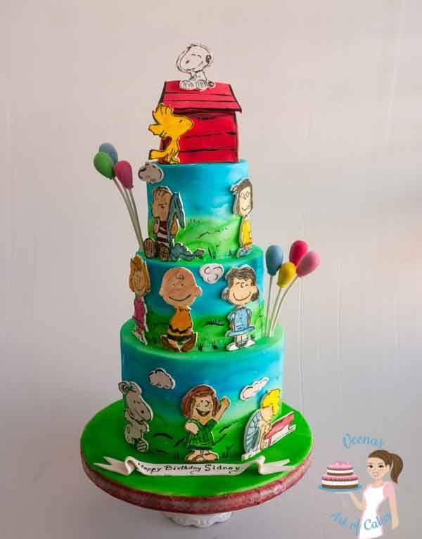 The Peanuts gang birthday cake made with Satin Ice Fondant ...