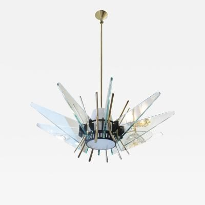Rare fontana arte attributed chandelier italy 1950s by max rare fontana arte attributed chandelier italy 1950s by max ingrand aloadofball Images