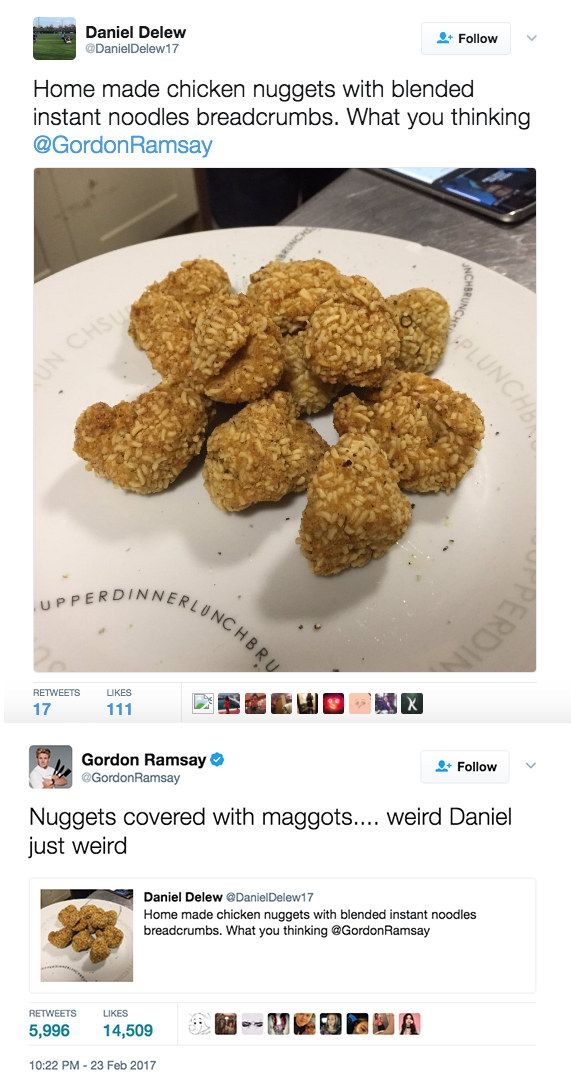 21 People Who Trolled Gordon Ramsay With Their Shitty Food Tweets