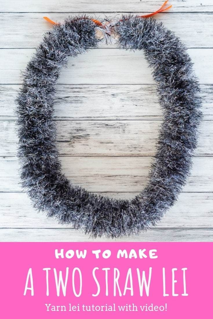 How to Make a Two Straw Lei