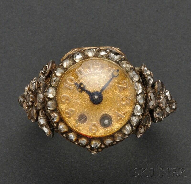 Rare Antique Miniature Ring Watch