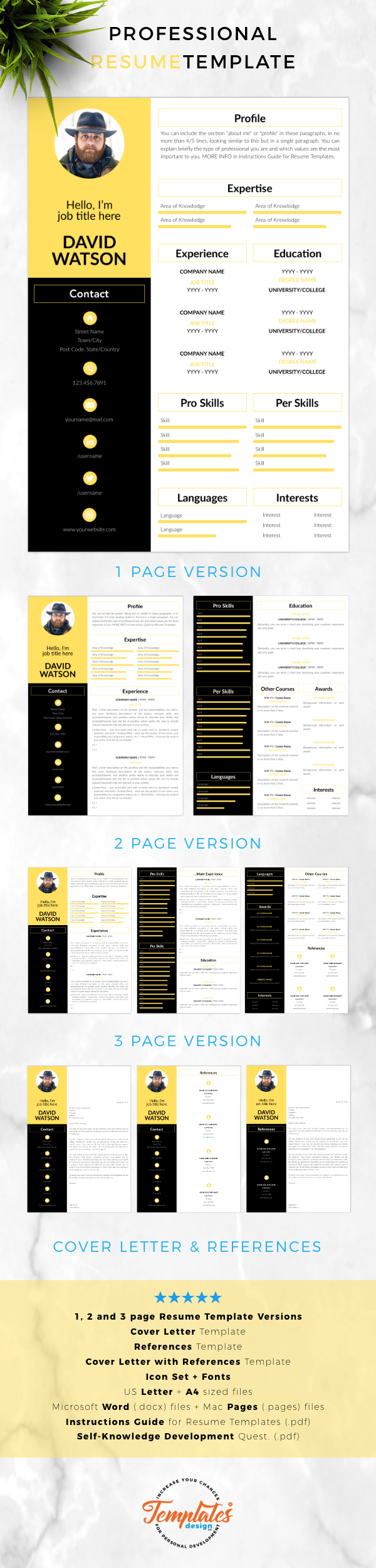 cv template    professional resume template with photo