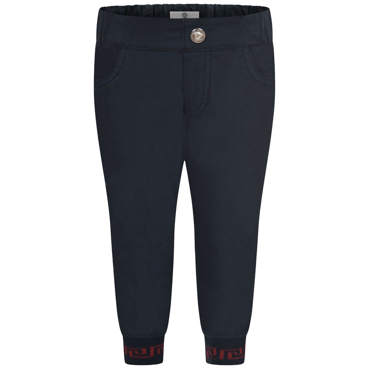 b0c1ece0cb98 Young Versace Baby Boys Navy Blue Trousers