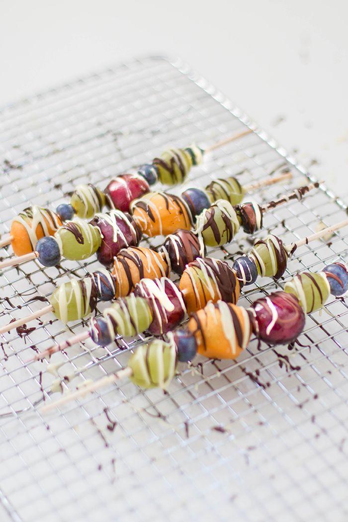 Obst Schokoladen Spieße - KüchenDeern