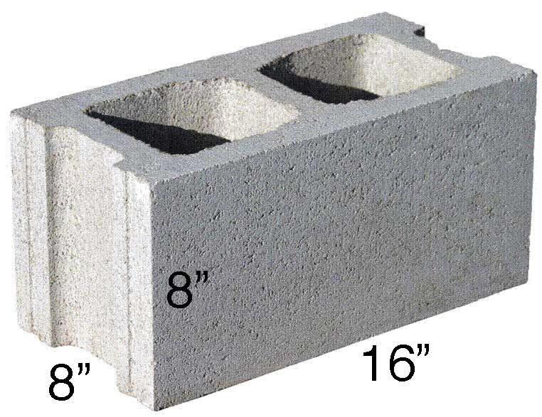 Concrete Block Calculator Find The Number Of Blocks Needed For A Wall Or Foundation Inch Calculator Concrete Block Walls Concrete Blocks Concrete Block Retaining Wall