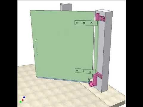 Gate To Open Inward Uphill 3 Youtube Mechanism Mechanik