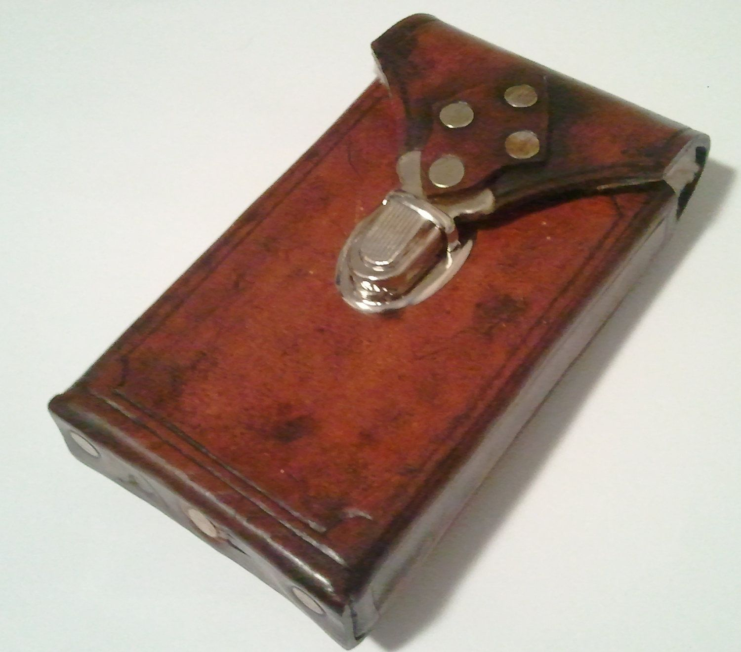 Steampunk Leather Cell Phone Case  Made To Fit Most