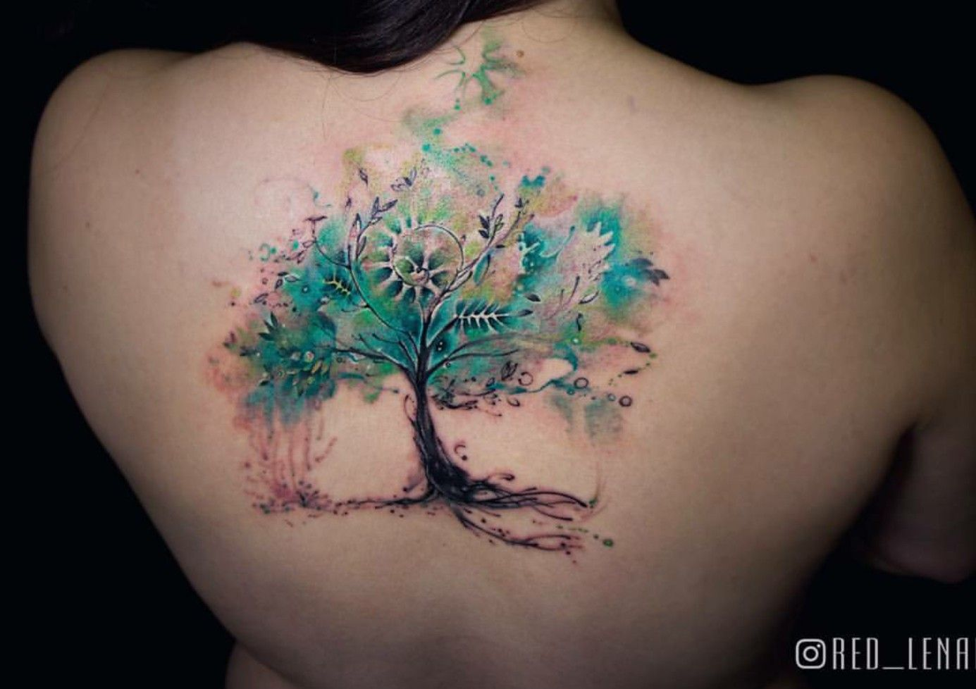 Pin By Savannah Wright On Ink Watercolor Tattoo Tree Mystical