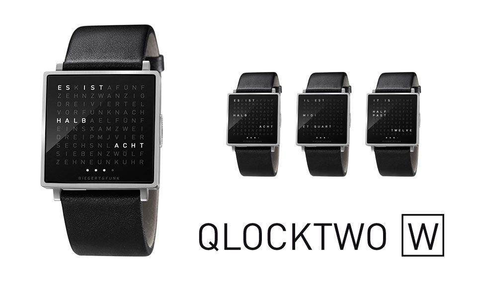 QLOCKTWO W von Biegert & Funk | Uhren | Uhren und ...