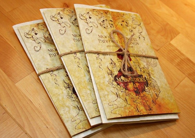 Harry Potter Karte Des Rumtreibers Spruch.Harry Potter Party Geburtstag Einladung Karte Des Rumtreibers
