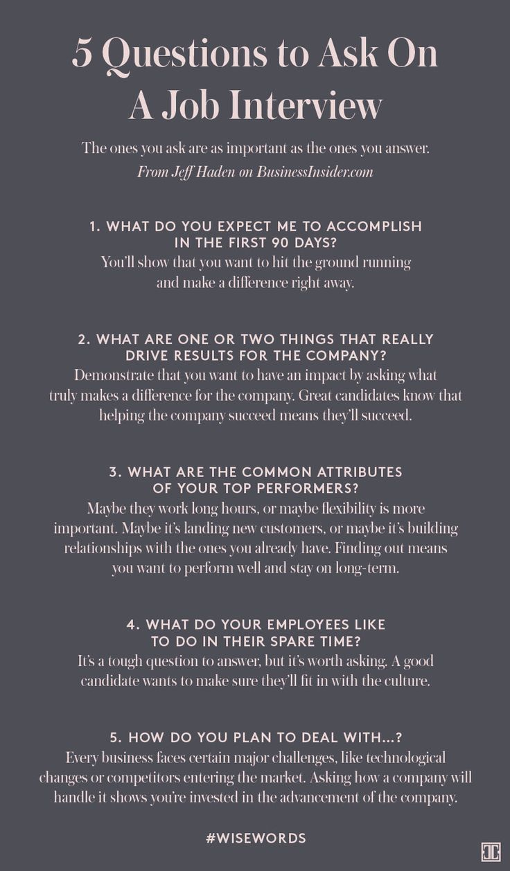 Nice 5 Questions To Ask On A Job Interview | Job Interviews | Pinterest | Job  Interviews, Life Hacks And Business