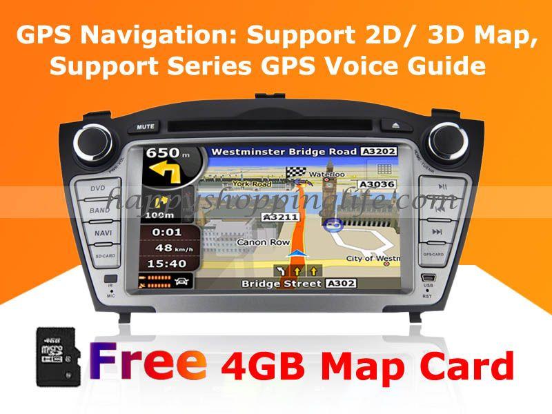 Car DVD Player GPS Navigation for Hyundai Tucson - Bluetooth