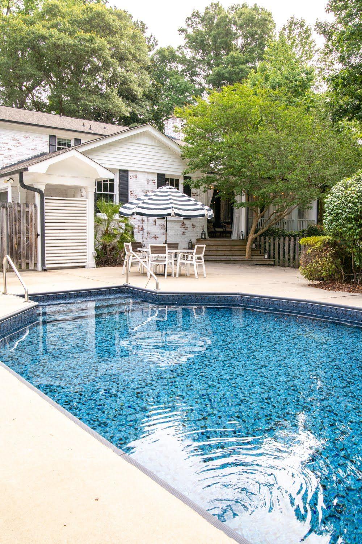 Swimming Pool Liner Makeover Reveal Diy Swimming Pool Swimming Pool Liners Swimming Pools