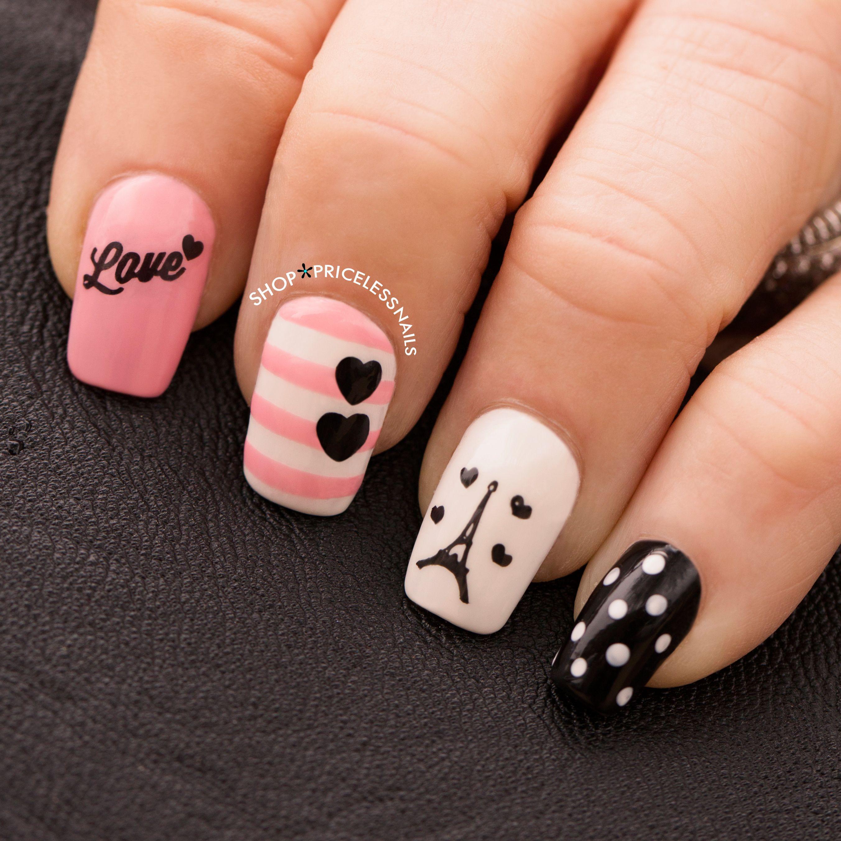 ✨ Paris amour nails ✨ | Uñas ❤ | Pinterest | Manicure, Paris ...