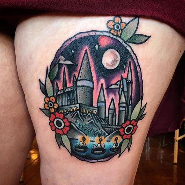 old school tattoos oldschooltatts on instagram hogwarts by avalondesu follow for. Black Bedroom Furniture Sets. Home Design Ideas