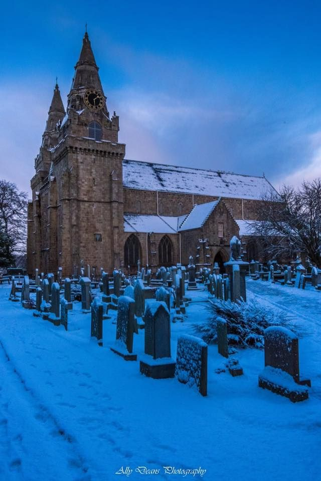 Winter Blues above St. Machar's Cathedral, Aberdeen, Scotland