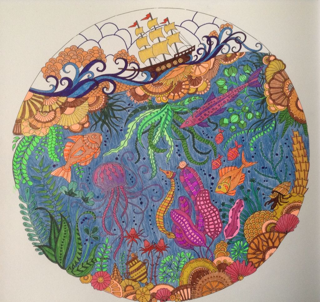 From The Lost Ocean Colouring Book November 2015