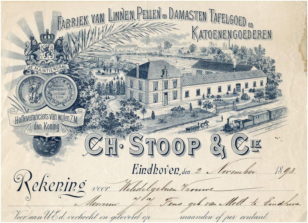 Ch stoop cie fabriek van linnen pellen en damasten for Stoop eindhoven